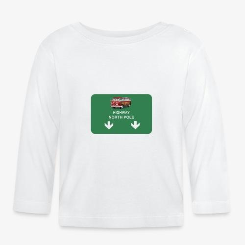 autoroute pour le pole nord - T-shirt manches longues Bébé