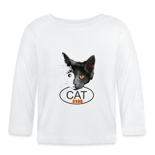 gat catala - Camiseta manga larga bebé