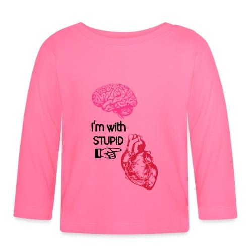 I'm with stupid (brain & heart) - Maglietta a manica lunga per bambini