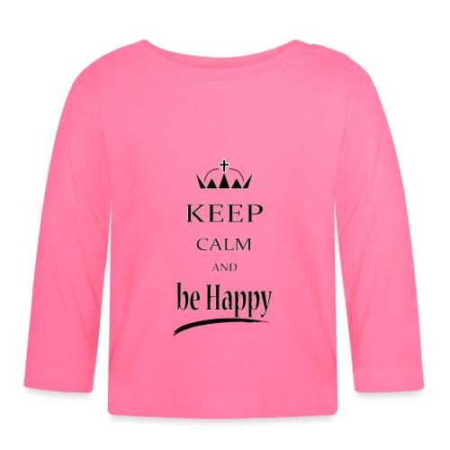 keep_calm and_be_happy-01 - Maglietta a manica lunga per bambini