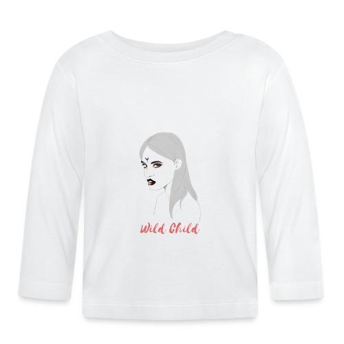 dark t shirt design female - Camiseta manga larga bebé