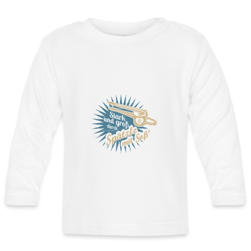 Spätzle mit Soß - Baby Langarmshirt