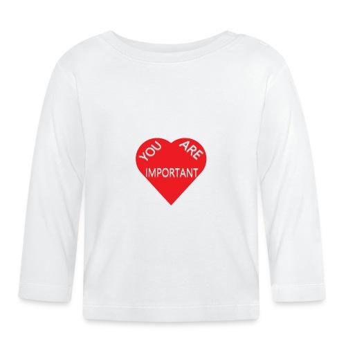 you are important - Langærmet babyshirt