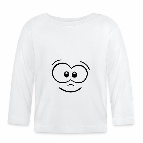 Gesicht fröhlich - Baby Langarmshirt