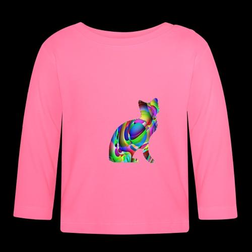 chat joueur - T-shirt manches longues Bébé
