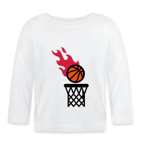 fire basketball - Baby Long Sleeve T-Shirt