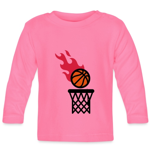 fire basketball - Baby Long Sleeve T-Shirt