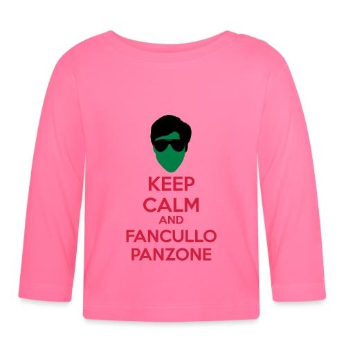 Fancullo panzone Keep Calm - Maglietta a manica lunga per bambini