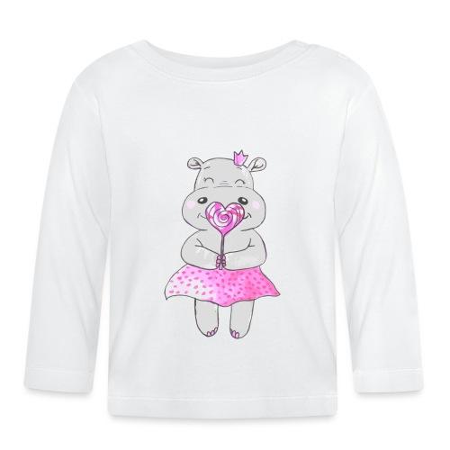 Happy Hippo - Baby Langarmshirt