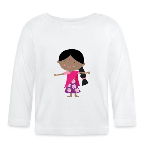 Happy Meitlis - Indien - Baby Langarmshirt