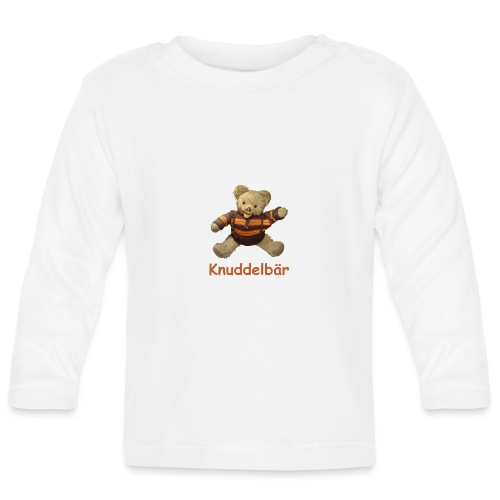 Teddybär Knuddelbär Schmusebär Teddy orange braun - Baby Langarmshirt