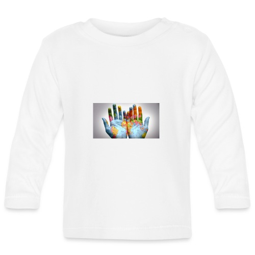 Hands of the world - Långärmad T-shirt baby