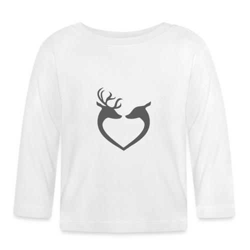 Boże Narodzenie - Renifery - Koszulka niemowlęca z długim rękawem