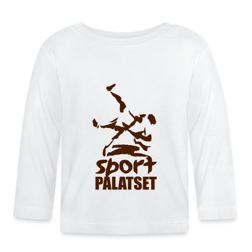 Motiv med svart logga - Långärmad T-shirt baby