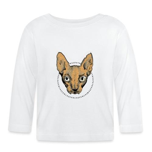 sphynx white bg - Långärmad T-shirt baby
