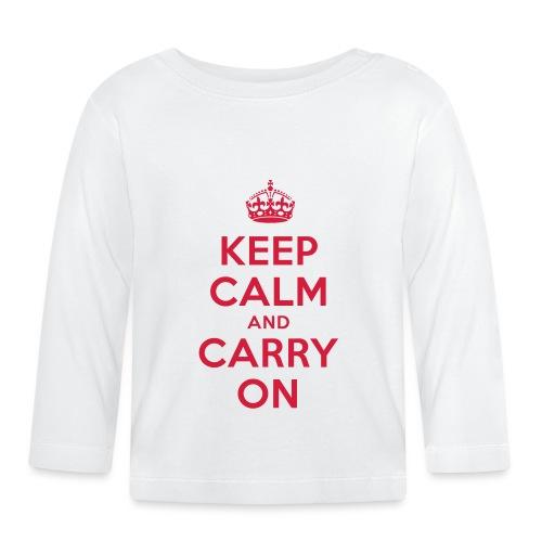 keep calm and carry on - Baby Langarmshirt