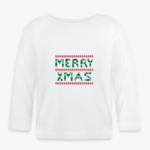 Merry X-Mas Ugly 1 - Baby Langarmshirt
