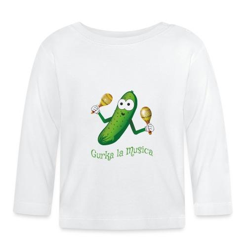 Gurka la Musica Viva la Musica Gurke mit Rasseln - Baby Langarmshirt