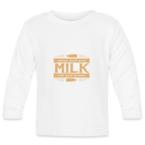 Drink Milk 1 - Baby Langarmshirt