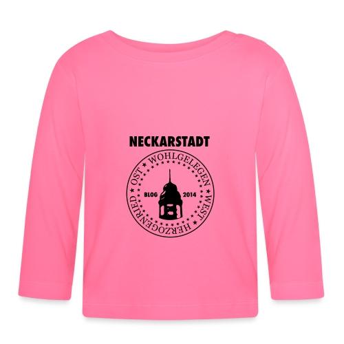 Neckarstadt Blog seit 2014 (Logo dunkel) - Baby Langarmshirt