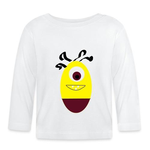 Gult æg - Langærmet babyshirt