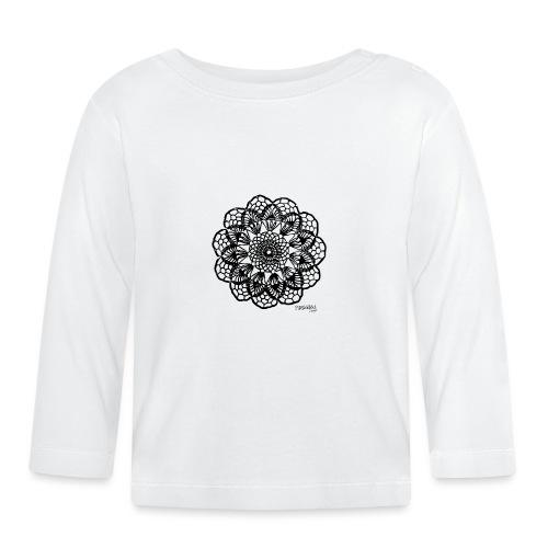 Grannys flower, musta - Vauvan pitkähihainen paita