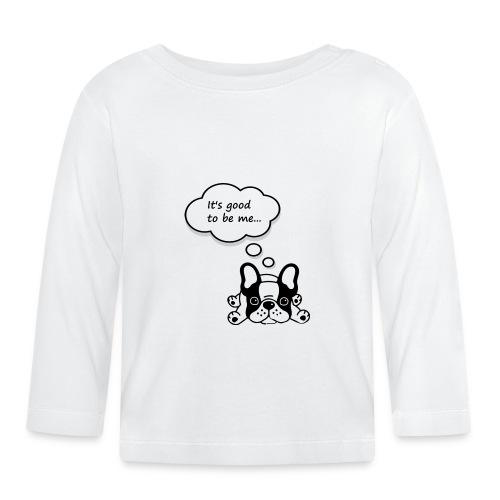 Babyb Buldog francuski - Koszulka niemowlęca z długim rękawem
