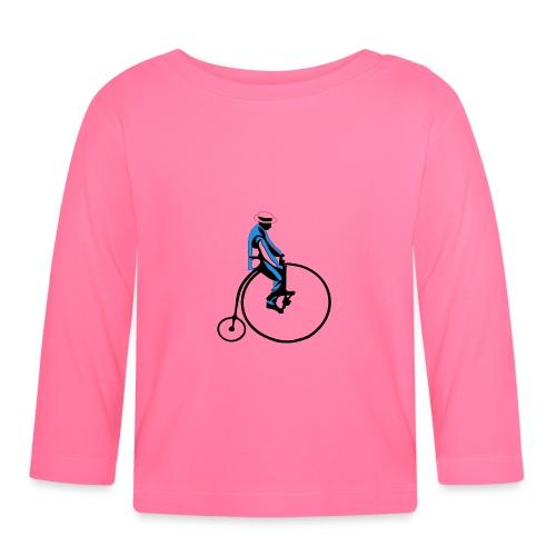 retro rower - Koszulka niemowlęca z długim rękawem