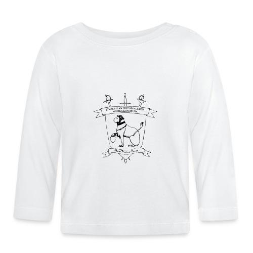 Naisten t-paita, musta logo - Vauvan pitkähihainen paita
