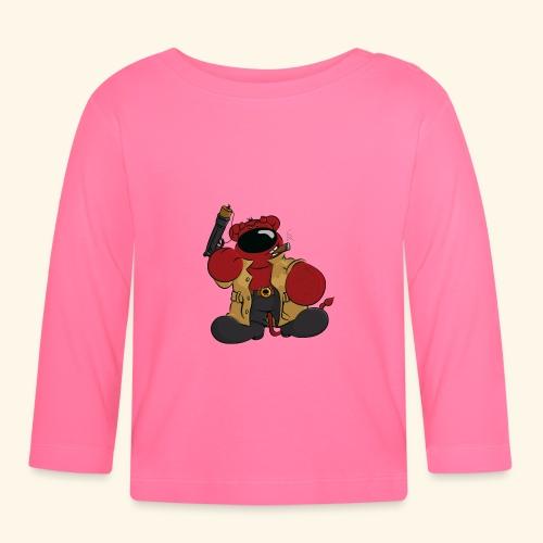 chris bears Der Bär ist ein Superheld - Baby Langarmshirt