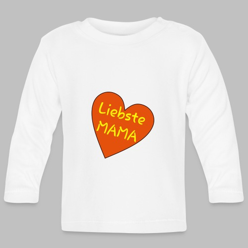 Liebste Mama - Auf Herz ♥ - Baby Langarmshirt