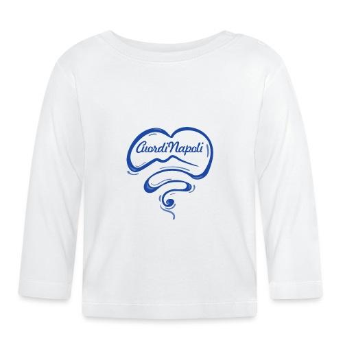 New Logo CuordiNapoli Blu - Maglietta a manica lunga per bambini