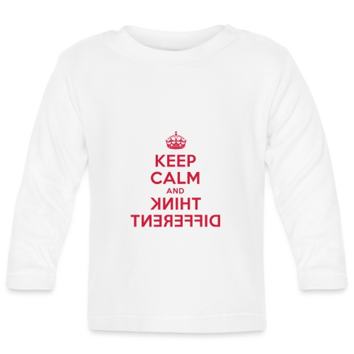 keep calm and think different - Baby Langarmshirt