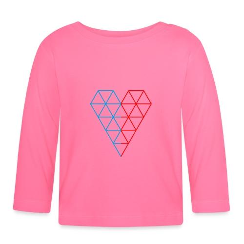 The Heart of Life x 1, Dual Polygon. - Baby Long Sleeve T-Shirt