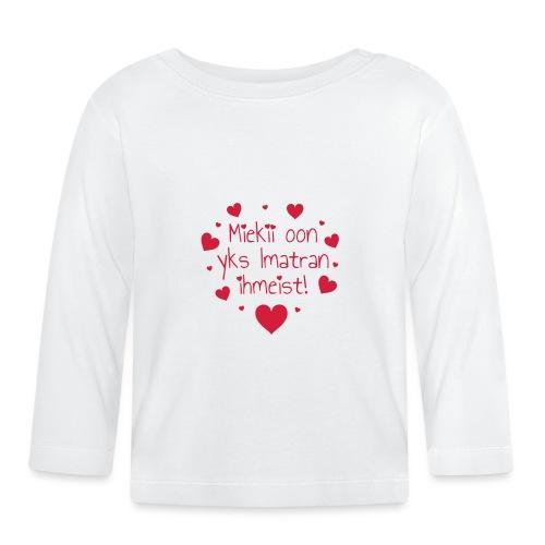 Miekii oon yks Imatran Ihmeist vauvan ph body - Vauvan pitkähihainen paita