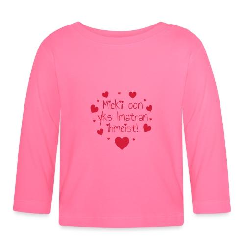 Miekii oon yks Imatran Ihmeist lasten ph paita - Vauvan pitkähihainen paita