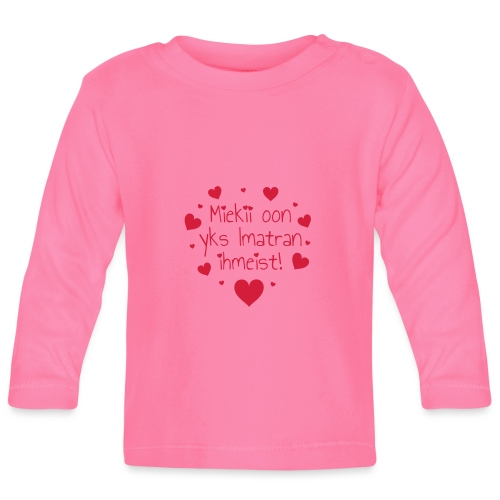 Miekii oon yks Imatran ihmeist! Naisten paita - Vauvan pitkähihainen paita