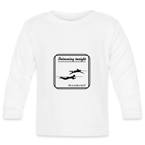 Swimming tonight - Vauvan pitkähihainen paita
