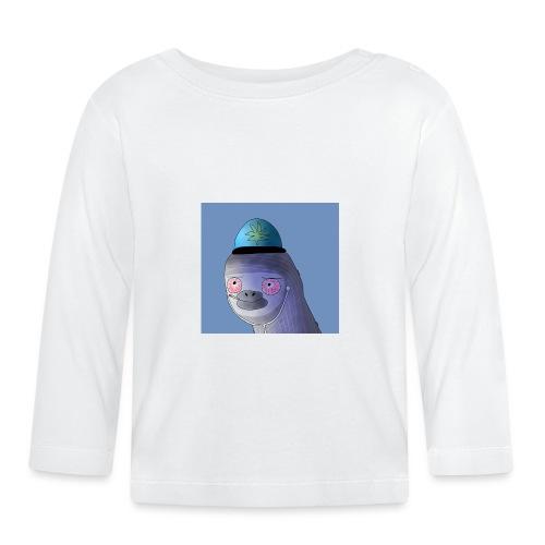 Jusun kanavan logo taustalla - Vauvan pitkähihainen paita