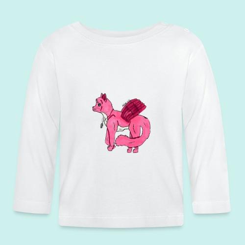 pink_cat_ei_taustaa - Vauvan pitkähihainen paita