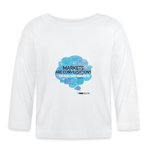 Markets are conversations The Cluetrain Manifesto - Maglietta a manica lunga per bambini