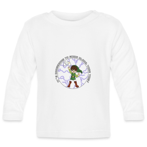 Dangerous To Game Alone - Baby Long Sleeve T-Shirt