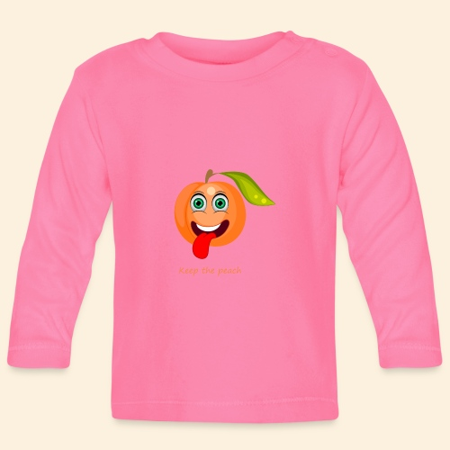 Whoua keep the peach - T-shirt manches longues Bébé