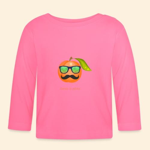 Lunette, moustache garde la pêche - T-shirt manches longues Bébé