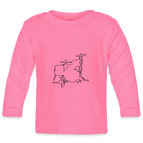 Drums Silhouette - Baby Long Sleeve T-Shirt