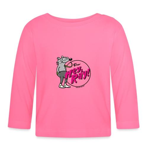 Hey Ray! Logo magenta - Baby Langarmshirt