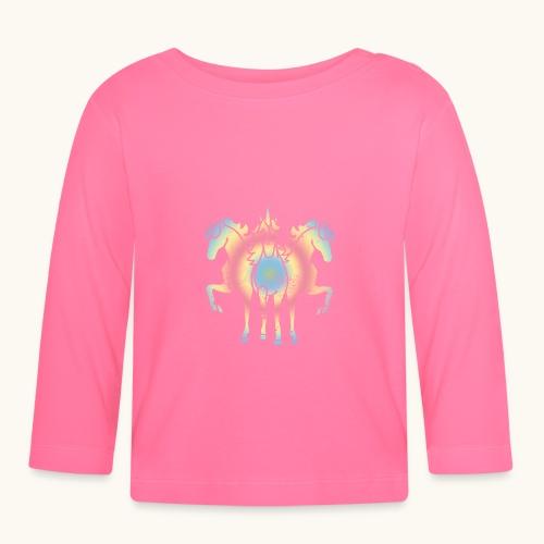 Licorne troïka arc-en-ciel grunge drôle cadeau - T-shirt manches longues Bébé