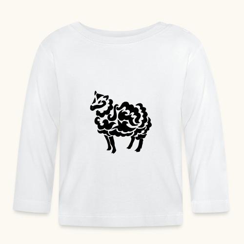 Tribal Schaf Wolle Tattoo Lustig Geschenkidee - T-shirt manches longues Bébé