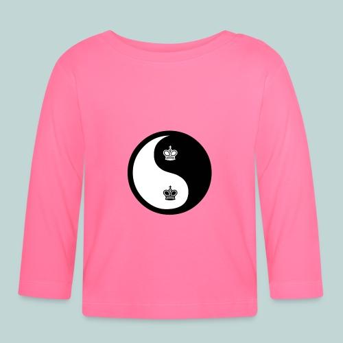 Schach-Yingyang - Baby Langarmshirt