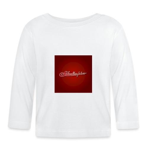 Logo auf Rot - Baby Langarmshirt
